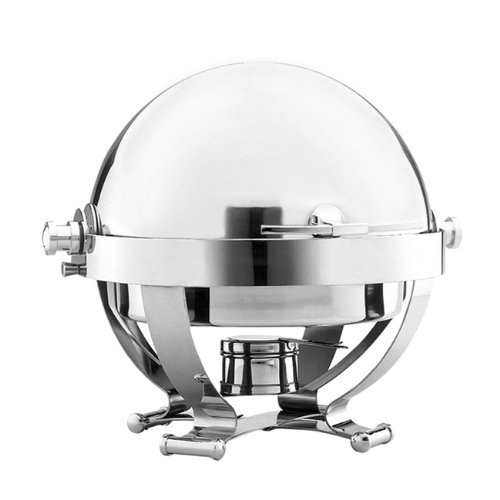 Walco Satellite Round 6-Quart Chafer, All Stainless Look