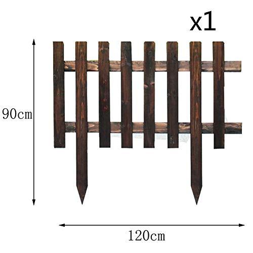 WXQIANG Gartenzaun Veranda Holz Border Fencing Picket Fechten Schutz Leitschiene Karbonisierung Stakes, 5 Größen (Color : 3PCS, Size : 63.5X33CM)