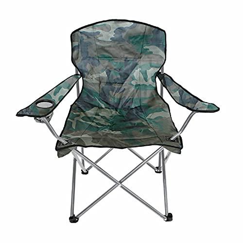 INDA-Exclusiv Silla plegable para camping, con soporte para bebidas y funda, diseño...