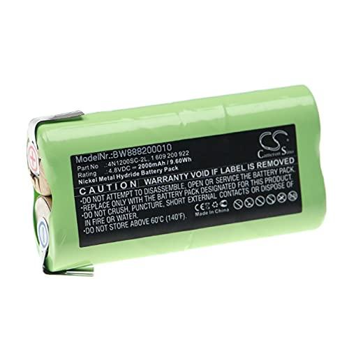 vhbw Batería recargable compatible con Bosch AGS 65, P800S herramientas eléctricas (2000 mAh NiMH 4,8 V)