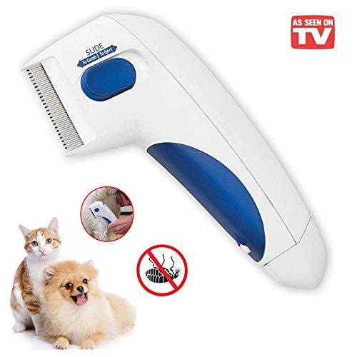 GNNMOY Flohkamm für Haustiere – zur Entfernung von Kopfläusen, Haustierreinigung wie auf dem Fernseher; elektronischer Kamm für Hunde und Katzen, tötet den Flöhe (Keine Batterien)