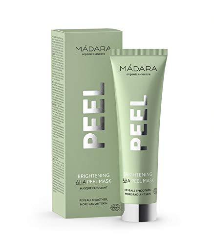 MÁDARA Organic Skincare   Aufhellende AHA Peel-Maske - 60ml, Mit Fruchtsäuren, Vitamin C und Milchsäure, Peeling, Aufhellend, Für strahlende und geglättete Haut, Vegan, Ecocert-zertifiziert, Recycelbare Verpackung.