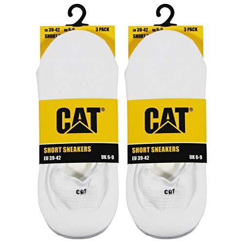 Caterpillar Short Sneaker 6 Onzichtbare paar sokken, van zacht katoen, antislipzone op de hiel