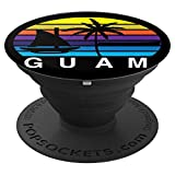 Guam Vintage Seal Distressed Design Apparel Gifts & Clothing PopSockets Grip and Stand for Phones and Tablets