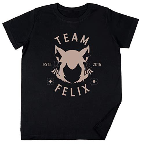 Vendax Team Felix Niños Chicos Chicas Unisexo Camiseta Negro