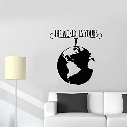 sanzangtang Fotobehang wereld milieuvriendelijke gelatine stickers kantoor decoratie kunst