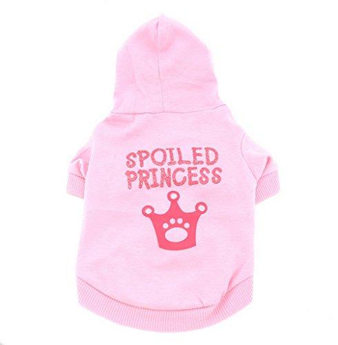 SMALLLEE_LUCKY_STORE Felpa con Cappuccio per Cani di Piccola Taglia con Cappuccio per Ragazze e Cuccioli Magliette per Gatto Vestiti Estivi Yorkshire Chihuahua Colore Rosa