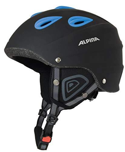 ALPINA Junta Rental Skihelm (Größe: 61-64 cm, 01 schwarz matt/blau)