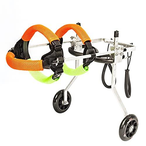 HXSM Carro para Perros Ajustable Silla De Ruedas para Perros Ligera para Rehabilitación De Patas Traseras Ciclomotor Scooter para Mascota Discapacitados Asistido Caminan XXS/XS/S/M