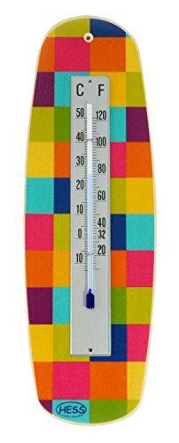 Hess Jouet en bois 15802 Thermomètre en bois Motif couleurs Multicolore Env. 26 x 8 cm