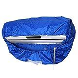 Copertura per condizionatore d'aria impermeabile, antipolvere, per condizionatori da parete, con corda elastica Taglia libera Blue