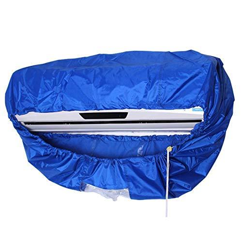 Funda para aire acondicionado, impermeable, para limpieza de aire acondicionado, lavado, protector antipolvo para montaje en la pared con cuerda elástica Tamaño libre azul