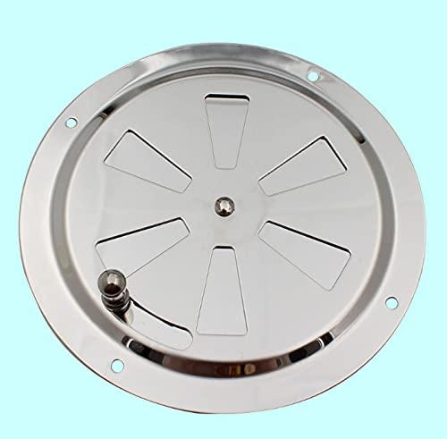 Heiqlay cubierta de ventilación de aire rejilla ventilacion redonda rejilla ventilacion regulable Accesorios de ventilación para yates RV, Acero inoxidable 316, 5 pulgadas/125 mm, 2 piezas