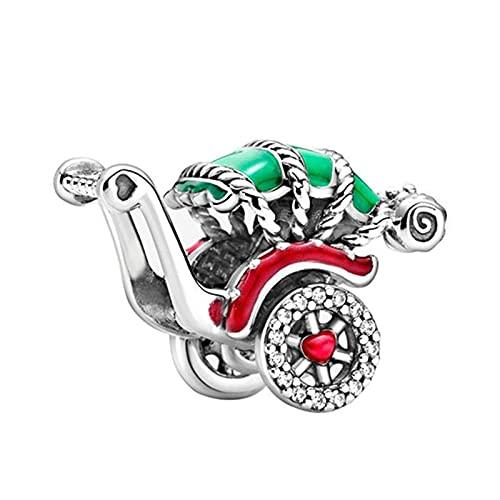 Pandora 925 Sterling Silvercute Kinderwagen Anhänger Perlen Geeignet für Original Charm Damen Making diy Liebe Schmuck