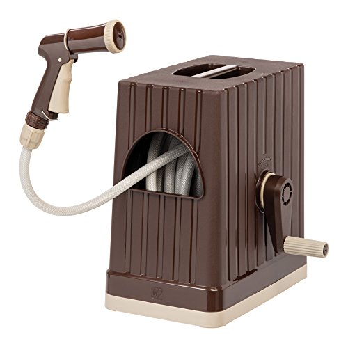 IRIS 6561 FT Hose Reel with Nozzle Brown