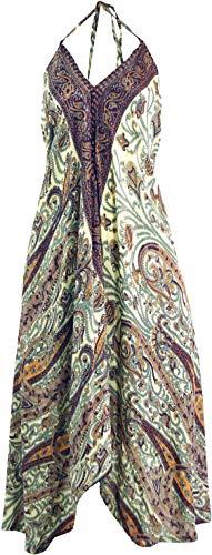 Guru-Shop Boho Sommerkleid, Magic Dress, Maxirock, Midikleid, Strandkleid, Damen, Flieder, Synthetisch, Size:40, Lange & Midi-Kleider Alternative Bekleidung