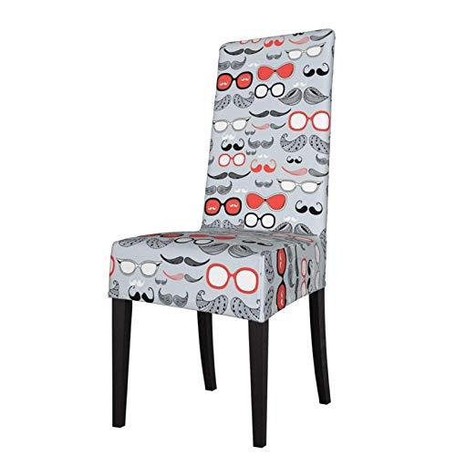 Grafik Verschiedene Schnurrbart Stretch Esszimmerstuhl SlipCover Classic Armless Stuhl Schonbezug Schutzhülle für Esszimmer