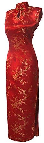 7Fairy Women's VTG Asian Red Long Chinese Wedding Dress Cheongsam Size 2 US