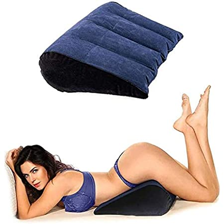 Sex Toys for Couples, Wedge Pillow for Sex, Position Cushion, Sex Furniture, Triangle Inflatable Ramp Positioning for Deeper Position Support Pillow Men Women Couples