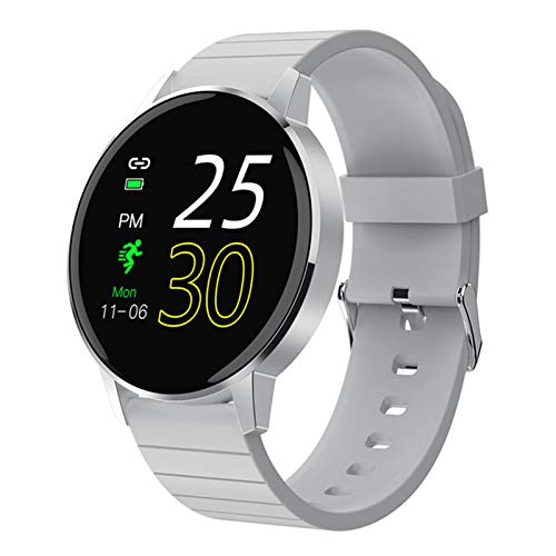 KBC 2021 Nuevo Reloj Inteligente De Pantalla Táctil Completa HD De 1.3 Pulgadas HD para Hombres Y Mujeres IP68 Fitness Impermeable Fitness Ratón Cardíaco Smart Watch para Android iOS,A