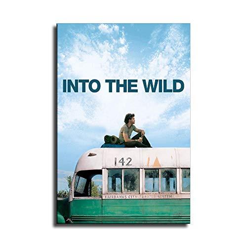Póster de Into The Wild en lienzo y arte para pared, diseño moderno de familia, Sin marco, 12x18inch