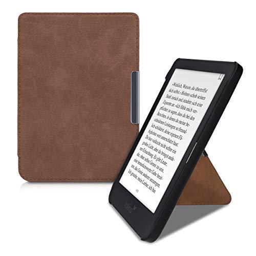 kwmobile Funda Origami Compatible con Tolino Shine 3 - Carcasa de Piel sintética para e-Reader - marrón