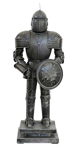 Chevalier avec Le Bouclier Sculpture métal Style Antique 46cm