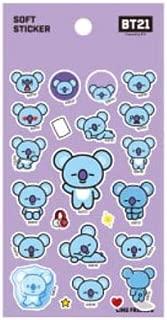 BT21 X STUDIO8 BTS Official Merchandise Soft Sticker, by Bangtanboys (KOYA)