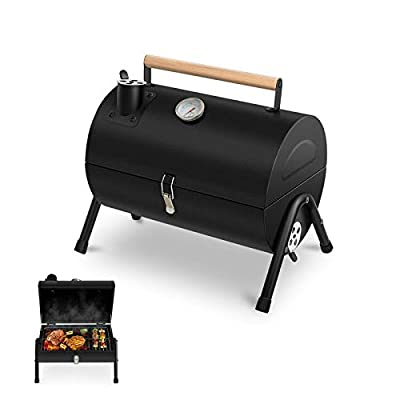 Lovely Snail Charcoal Grill Portable BBQ Grill, Heavy Duty Barbecue Camping Grill for Outdoor Cooking, Camping and Picnic