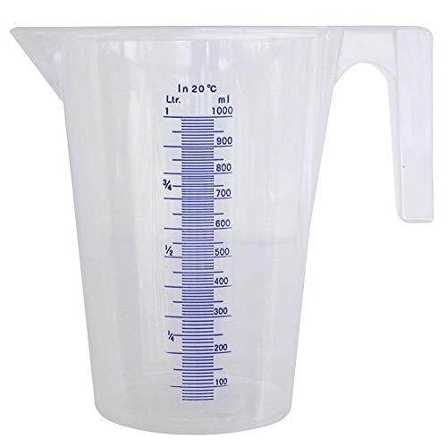 PRESSOL 7062 Messbecher transparent Polypropylen Inhalt 1,0 Liter