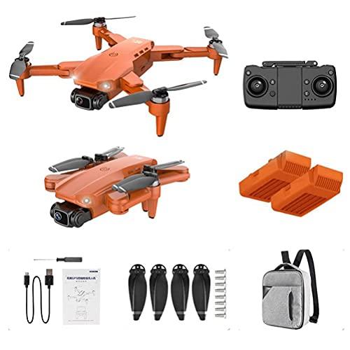 JJDSN Drones con Mando a Distancia Recargable, Drone con cámara 4K HD para Adultos, Quadcopter RC Plegable, Quadcopter con Motor sin escobillas, FPV Live Video, 2 baterías y Mochila