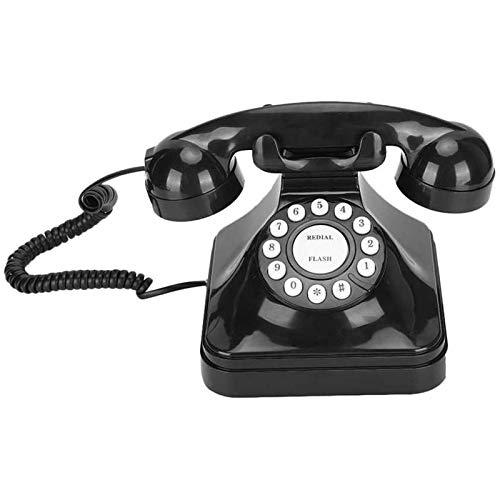 ZARTPMO Teléfono Fijo Fijo Teléfono Antiguo Retro Escritorio con Cable Fijo Teléfono Fijo con Cable Botón De Teléfono Antiguo Vintage Teléfono Dail para La Oficina del Hotel En Casa