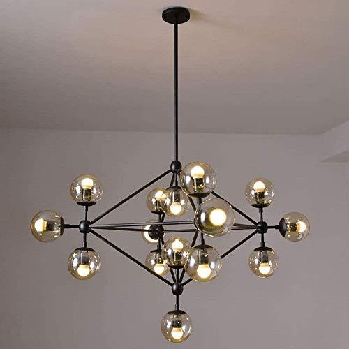 Modern Sputnik Kroonluchter, Kroonluchter Modern Ronde glazen bolvormige hanglamp Indoor Ceiling lamp armatuur for Cafe Bar Eetkamer Slaapkamer Woonkamer