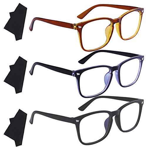 Ruisita 3 Pack Blue Light Filter Glasses Anti Eyestrain Glasses Anti Glare...