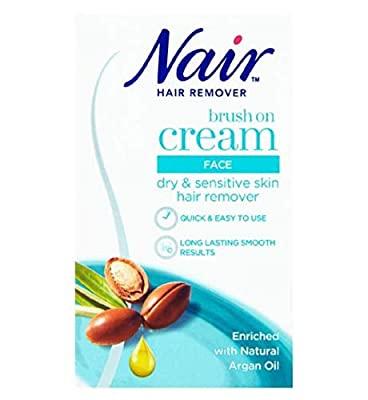 Nair - Nourish Facial Brush-On - Hair remover - Ultra precision - for Dry & Sensitive Skin - with Argan Oil - 50ml by Nair