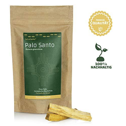SelvaCanto® - Palo Santo Sticks - heiliges Holz | Ideal für kraftvolle Zeremonien und befreiende Reinigungsrituale | aromatisches Räucherholz | 100g