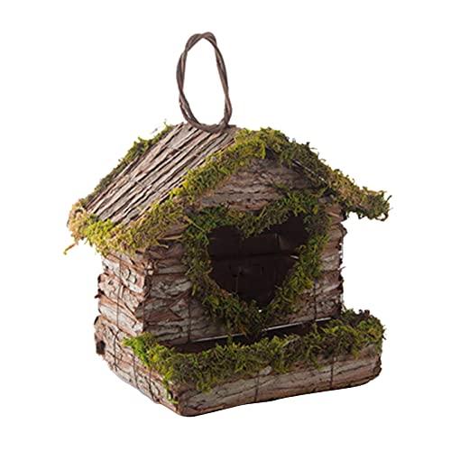 FLAMEER Nido di casetta per Uccelli Gabbia Decorativa Capanna per Uccellini Casa per Colibrì per piccioncini Ara fringuelli e Uccelli canori