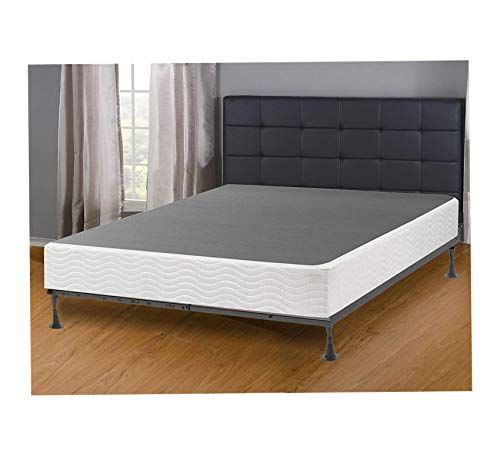 Wood & Style Solution, 8-Inch Metal Box Spring/Foundation for Mattress, Queen Size Comfy Living Home Décor Furniture Heavy Duty