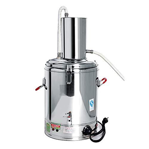 CLING Destilador de Alcohol de Agua Multifuncional Moonshine Still, Kit de elaboración casera para Whisky, termómetro Incorporado, Aislamiento de Doble Capa Grueso, Acero Inoxidable 304