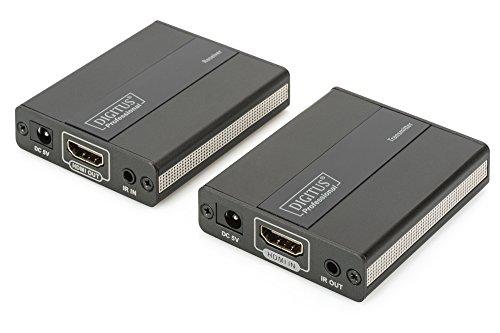DIGITUS Professional DS-55101 - HDMI Extender - Full HD - Set (Sender/Empfänger) - bis zu 130 m Reichweite - Patchkabel (Cat 5, Cat 5e, Cat 6) - schwarz