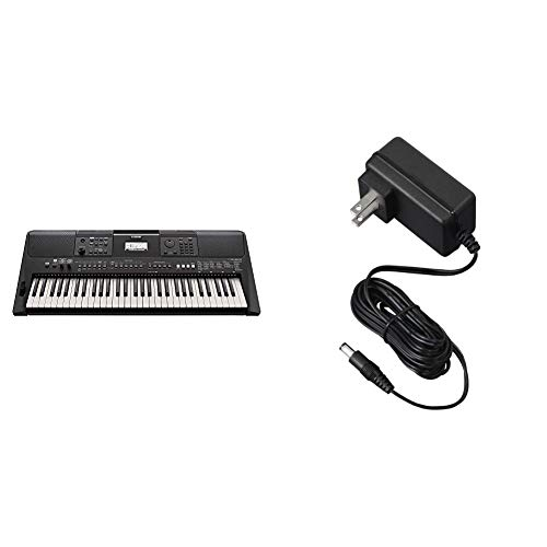 Yamaha PSR-E463 Portable Keyboard with Power Supply