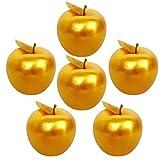 Lorigun 6 Piezas Golden Apple Golden Fruit Crafts decoración del hogar decoración de Navidad