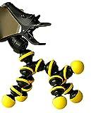 Plus Nao(プラスナオ) スマホスタンド スマホホルダー 卓上 クリップ フレキシブルアーム スマホ スマートフォン かわいい 恐竜 - ブラック