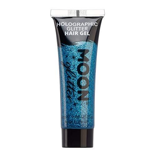 Moon Glitter - Gel capillaire à paillettes holographique - 20ml - Bleu