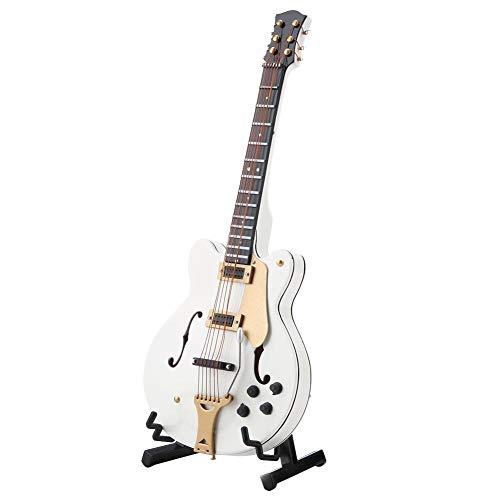Guitarra en Miniatura, réplica de Guitarra eléctrica en Miniatura Blanca de 5.5...