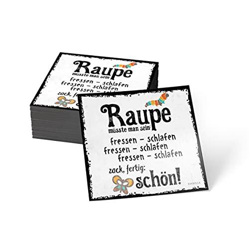 how about tee? Magnet-Sticker: Raupe müsste Man Sein: fressen. - Kühlschrankmagnet mit Spruch
