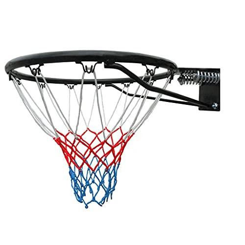 Aro de Baloncesto de tamaño Oficial de Pared con Red y Fijaciones 45 cm 18 Pulgadas Cesta Colgante para Exteriores montada en la Pared para Adultos y niños Aro de Baloncesto (Color: círculo h