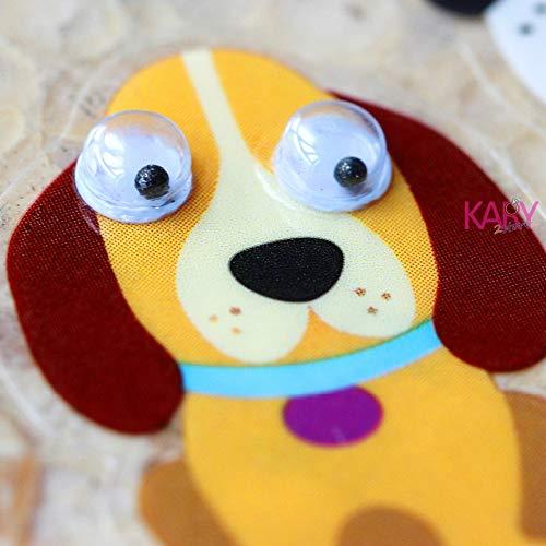 Hochwertige Geschenke Belohnung Kind Kinderspielzeug Süße Hundetiere Haustier Hunde Welpen Hund Pudel Scrapbooking Augen Aufkleber