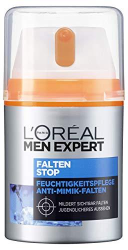 L\'Oréal Men Expert Falten Stop, Gesichtscreme, mit hochdosierter Anti-Aging Wirkung und Feuchtigkeitspflege Soforteffekt gegen Mimik-Falten (50 ml)