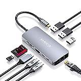 USB C Hub, MECO ELEVERDE 9-in-1 Multifunktional Type-C Adapter (3xUSB 3.0+USB C PD+USB C...